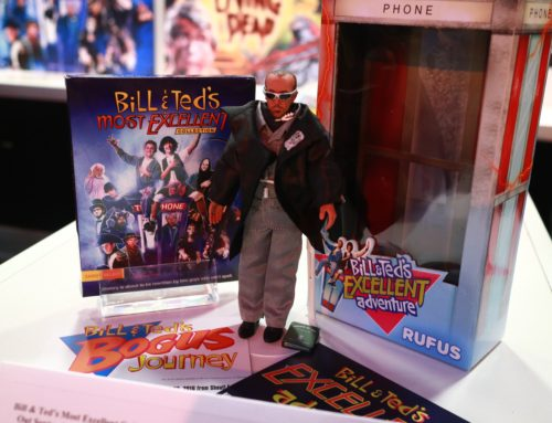 Rufus figure from Bill & Ted on display at Comic-Con 2016